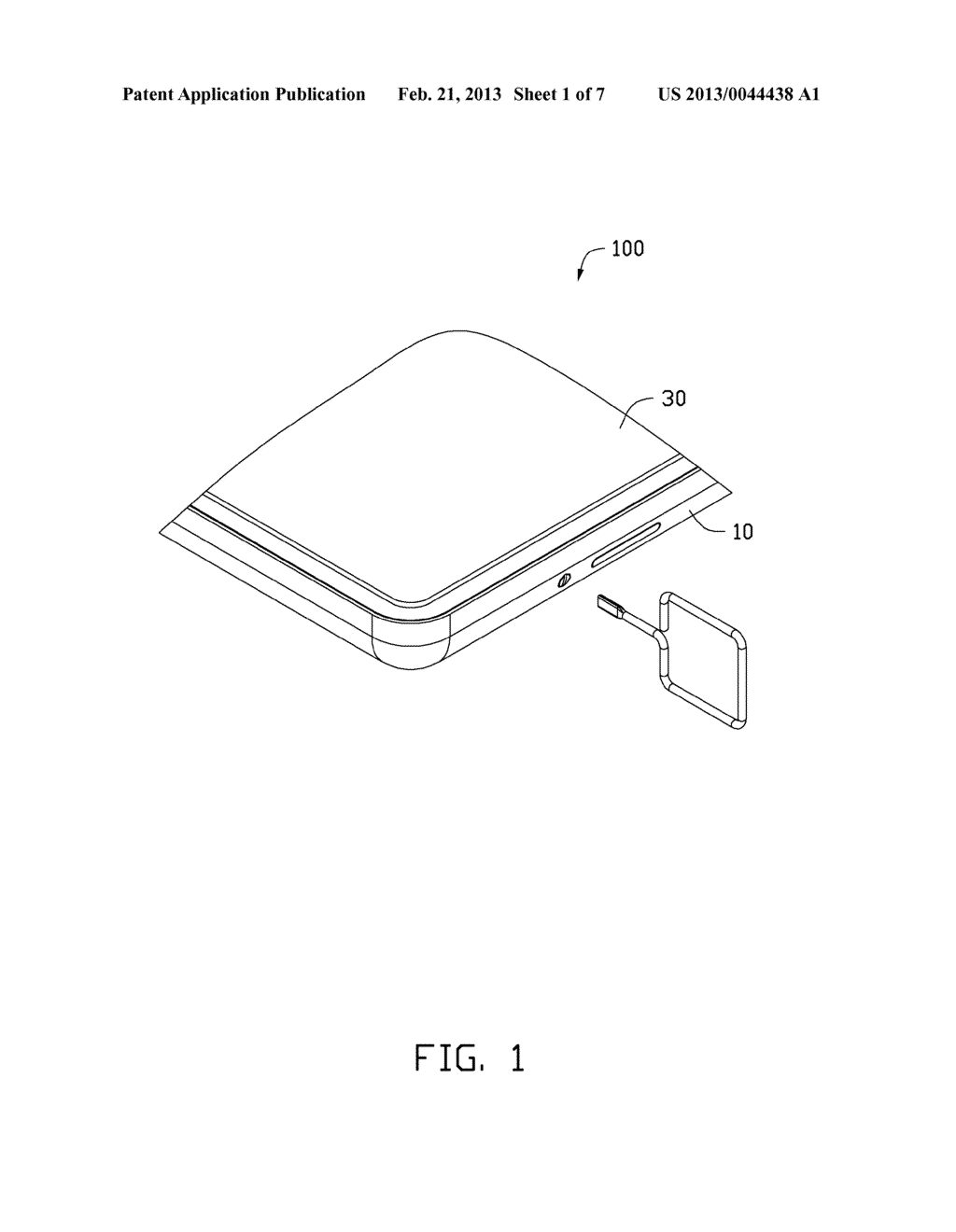 CHIP CARD HOLDING MECHANISM AND PORTABLE ELECTRONIC DEVICE USING THE SAME - diagram, schematic, and image 02