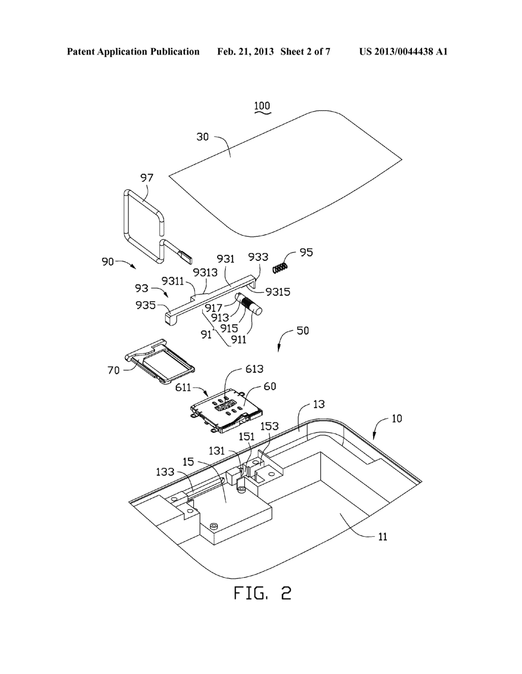 CHIP CARD HOLDING MECHANISM AND PORTABLE ELECTRONIC DEVICE USING THE SAME - diagram, schematic, and image 03