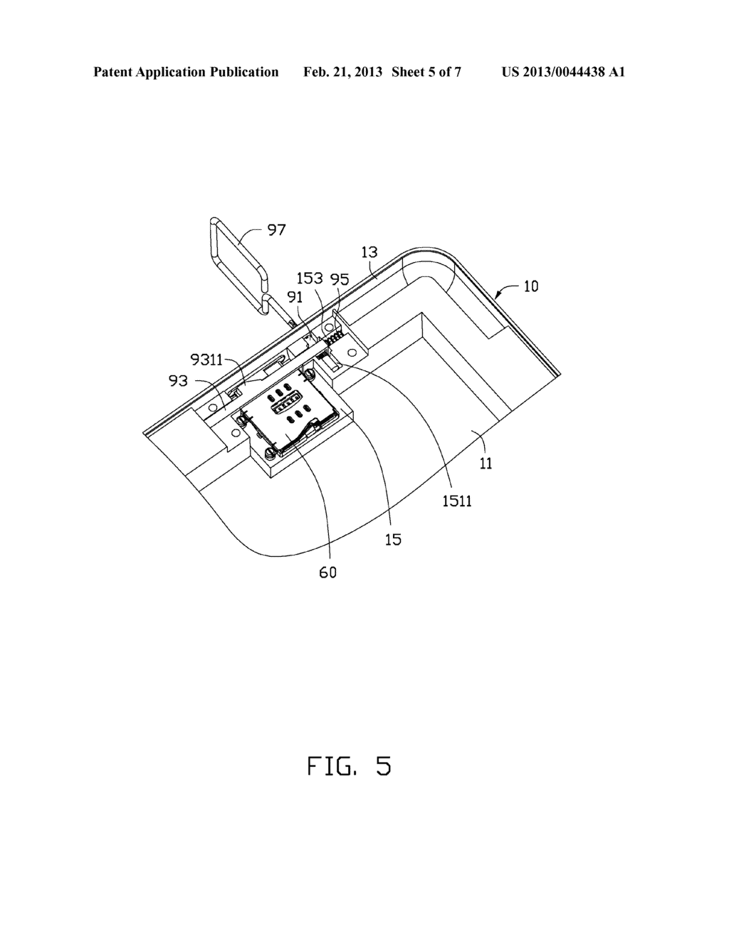 CHIP CARD HOLDING MECHANISM AND PORTABLE ELECTRONIC DEVICE USING THE SAME - diagram, schematic, and image 06