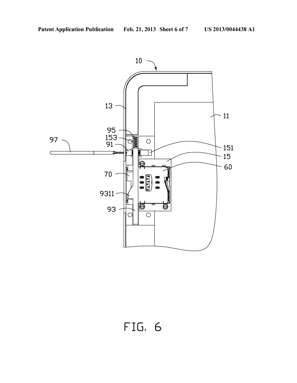 CHIP CARD HOLDING MECHANISM AND PORTABLE ELECTRONIC DEVICE USING THE SAME - diagram, schematic, and image 07
