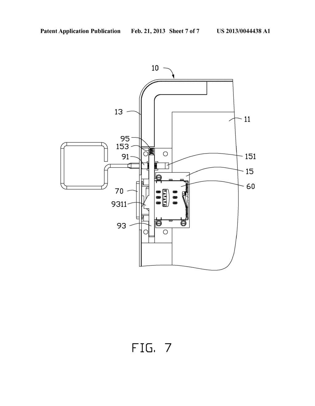 CHIP CARD HOLDING MECHANISM AND PORTABLE ELECTRONIC DEVICE USING THE SAME - diagram, schematic, and image 08