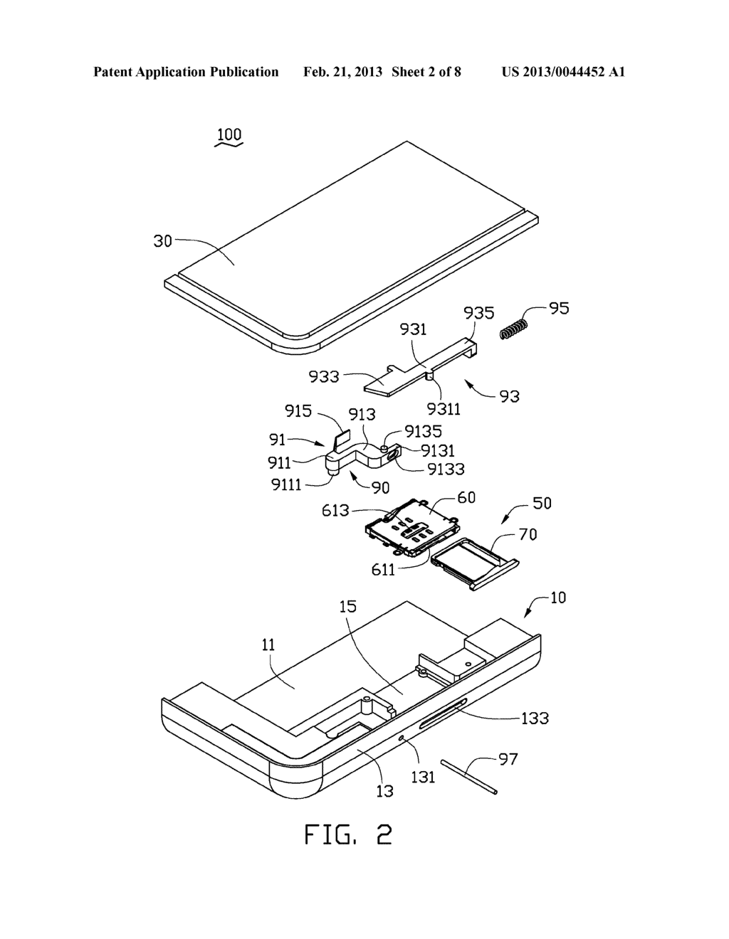 CHIP CARD HOLDING MECHANISM AND PORTABLE ELECTRONIC DEVICE USING SAME - diagram, schematic, and image 03
