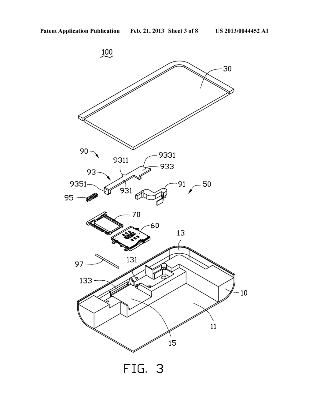 CHIP CARD HOLDING MECHANISM AND PORTABLE ELECTRONIC DEVICE USING SAME - diagram, schematic, and image 04
