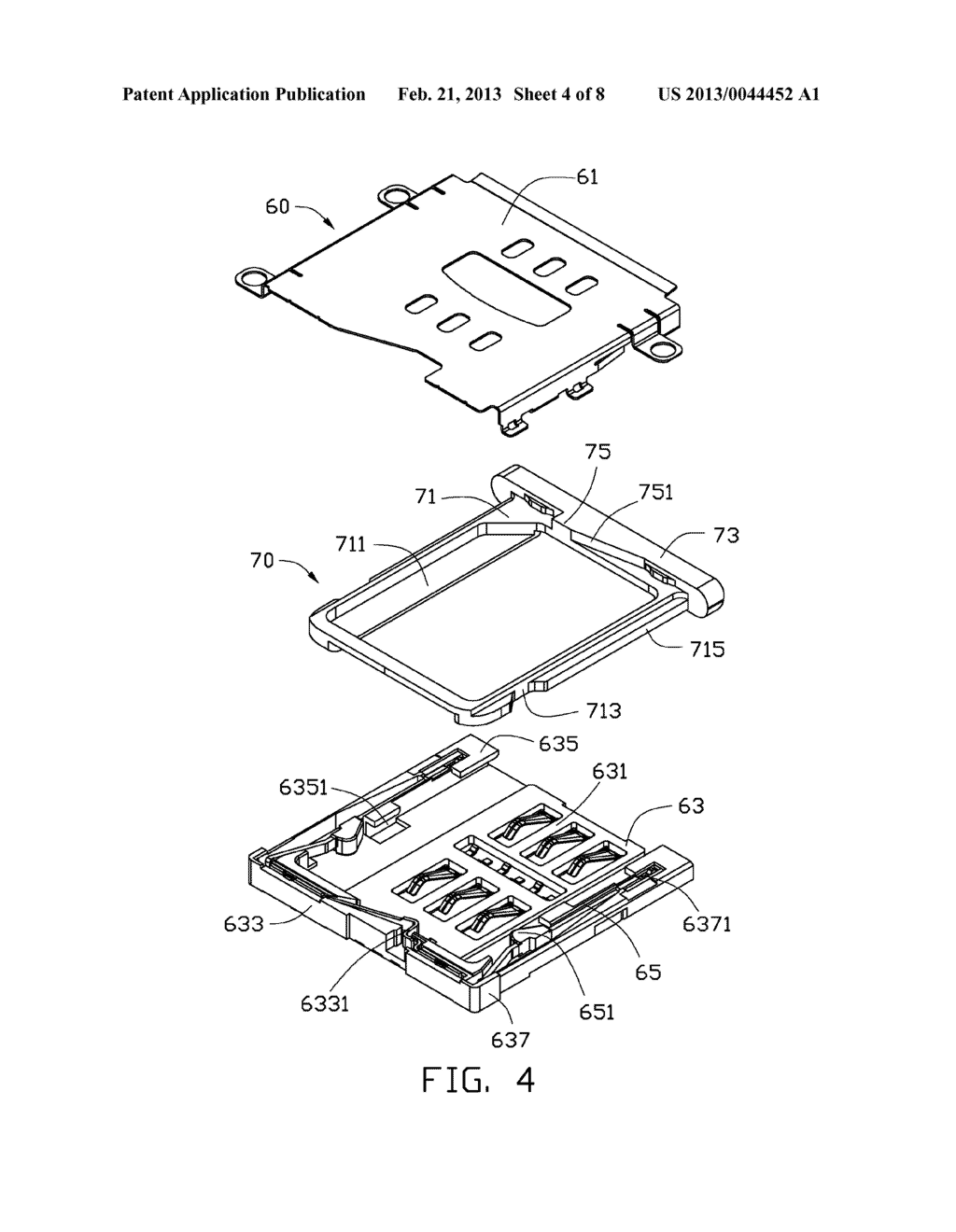 CHIP CARD HOLDING MECHANISM AND PORTABLE ELECTRONIC DEVICE USING SAME - diagram, schematic, and image 05