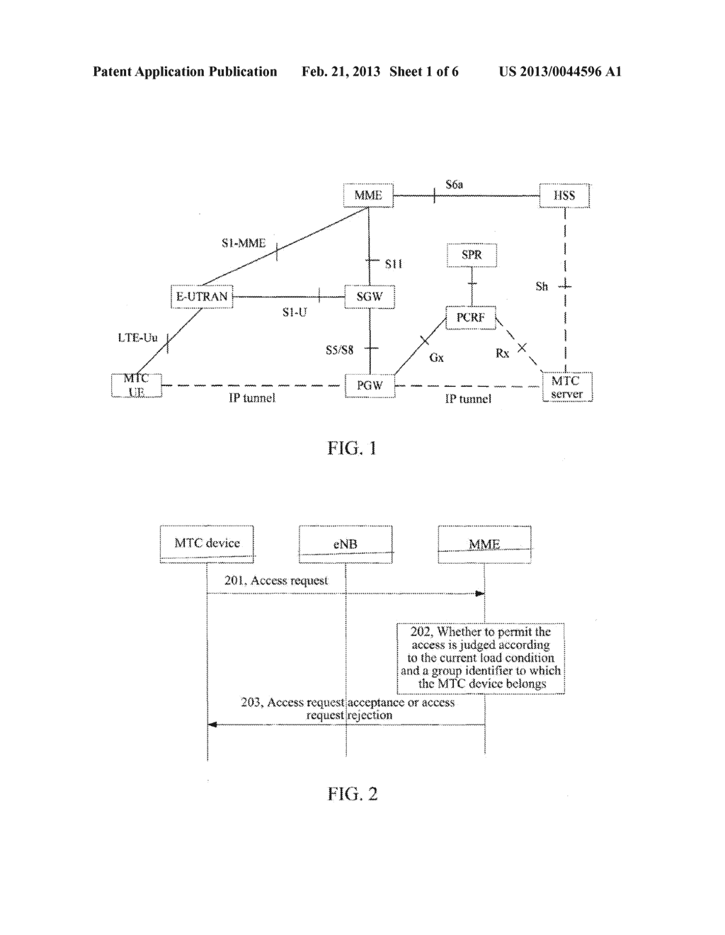 Method and System for Controlling Access of Machine Type Communications     Devices - diagram, schematic, and image 02