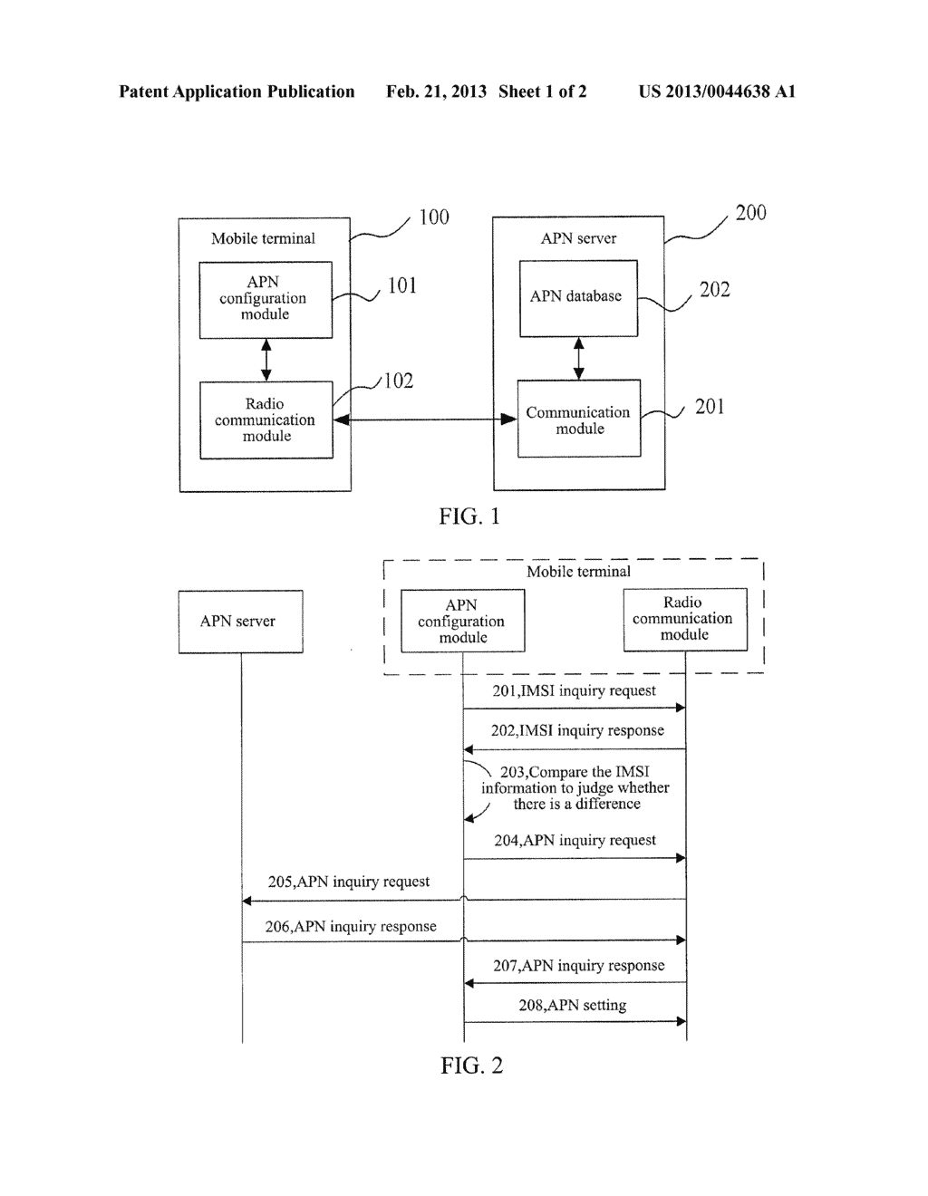 MOBILE TERMINAL, SYSTEM AND METHOD FOR REALIZING ACCESS POINT NAME SETTING - diagram, schematic, and image 02
