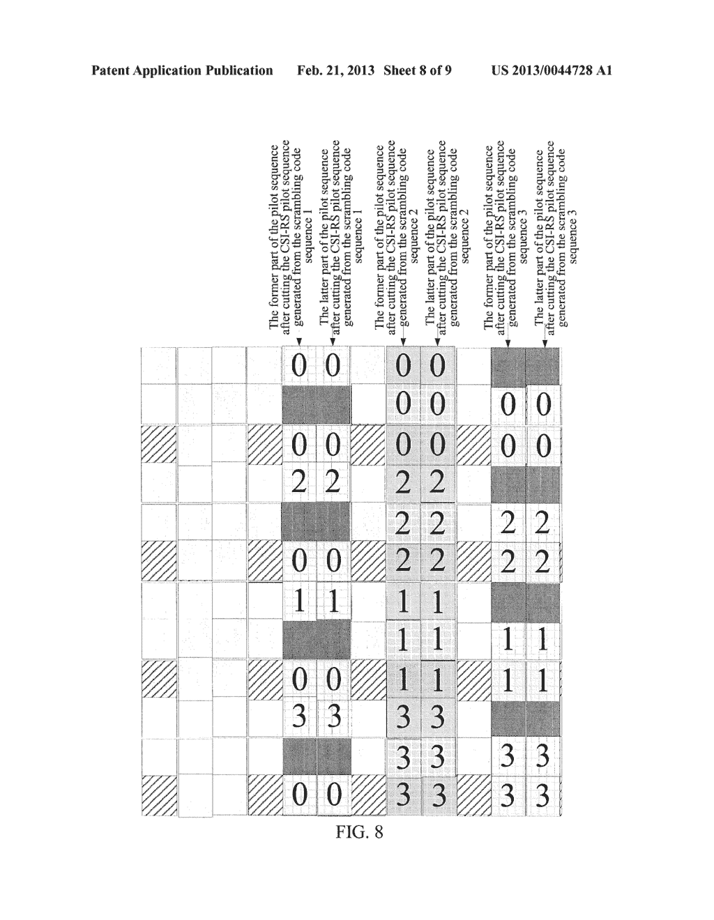 METHOD AND DEVICE FOR GENERATING AND MAPPING CHANNEL STATE INFORMATION     REFERENCE SIGNAL SEQUENCE - diagram, schematic, and image 09