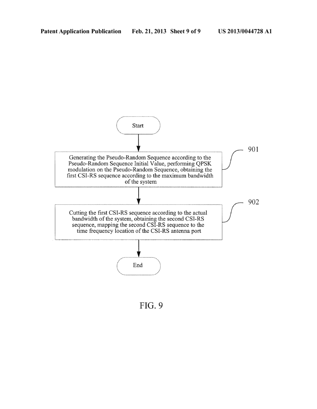 METHOD AND DEVICE FOR GENERATING AND MAPPING CHANNEL STATE INFORMATION     REFERENCE SIGNAL SEQUENCE - diagram, schematic, and image 10