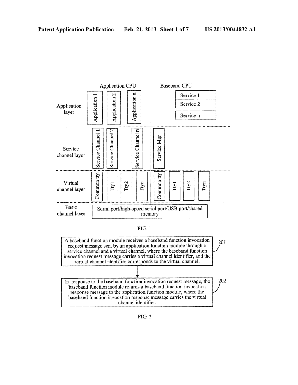 METHOD, DEVICE AND SYSTEM FOR COMMUNICATION BETWEEN DOUBLE CENTRAL     PROCESSING UNITS - diagram, schematic, and image 02