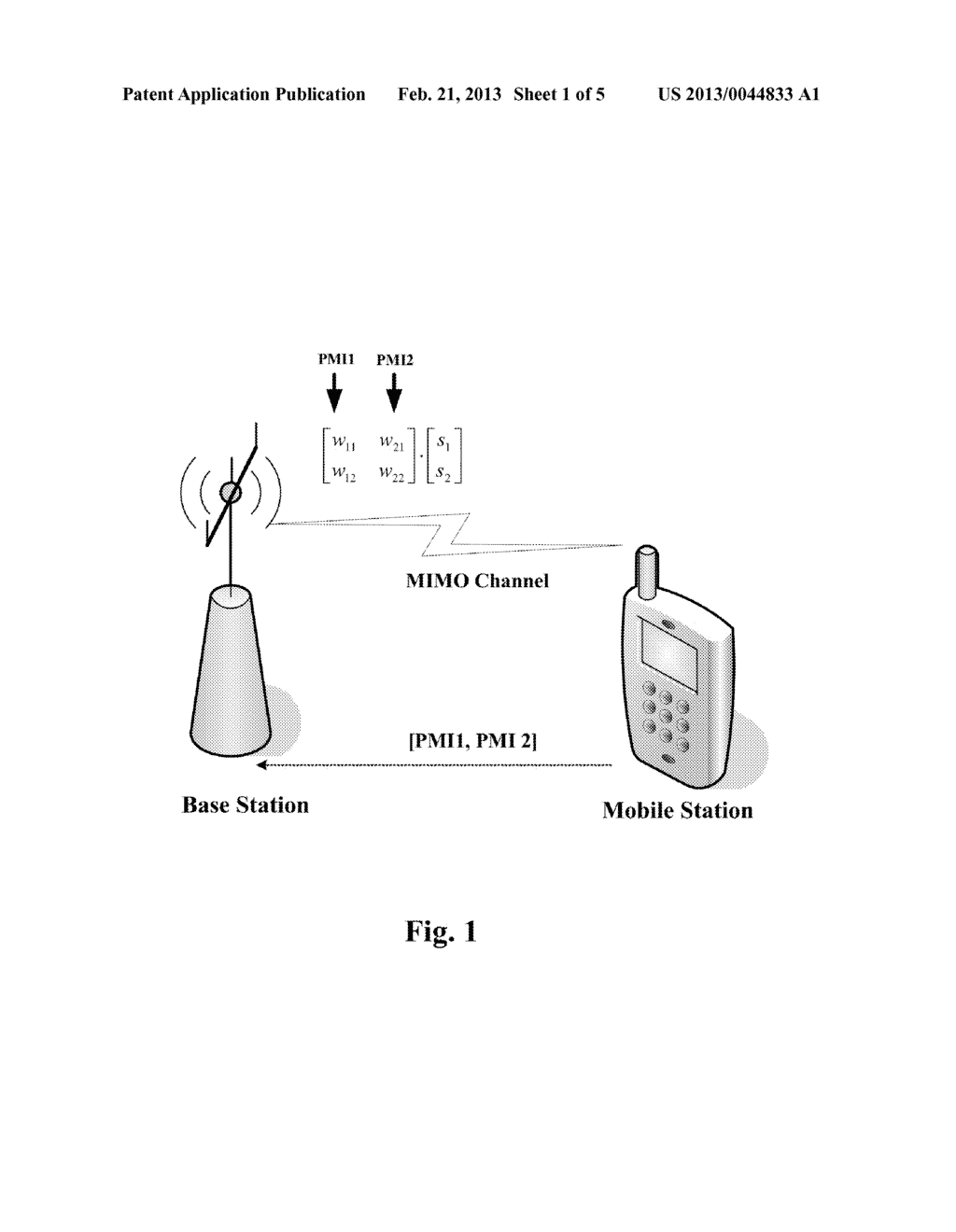 METHOD FOR FEEDING BACK PRECODING MATRIX INFORMATION AND MOBILE STATION     THEREOF - diagram, schematic, and image 02