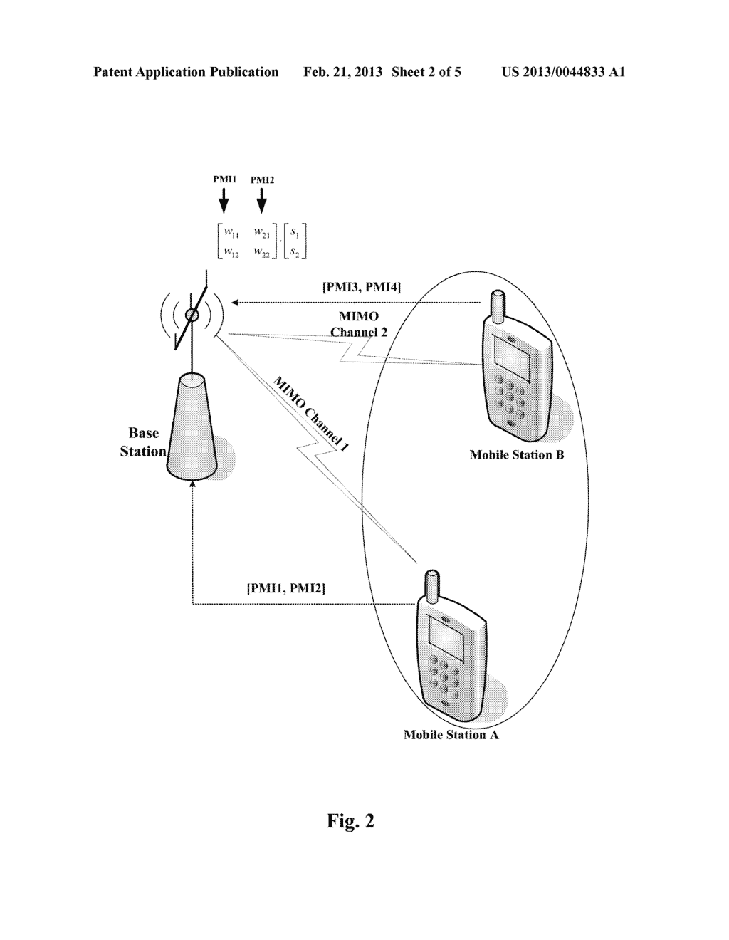 METHOD FOR FEEDING BACK PRECODING MATRIX INFORMATION AND MOBILE STATION     THEREOF - diagram, schematic, and image 03