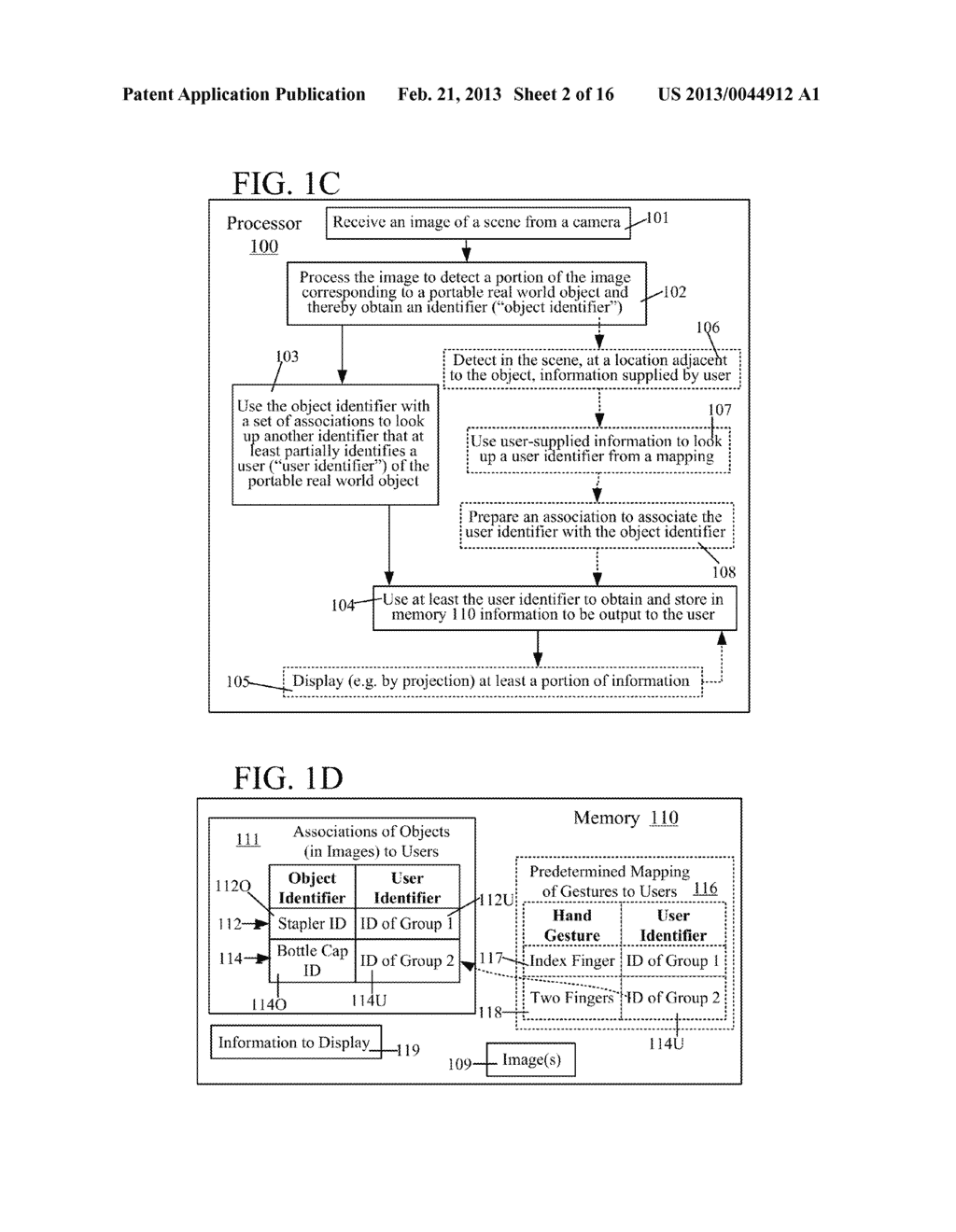 USE OF ASSOCIATION OF AN OBJECT DETECTED IN AN IMAGE TO OBTAIN INFORMATION     TO DISPLAY TO A USER - diagram, schematic, and image 03