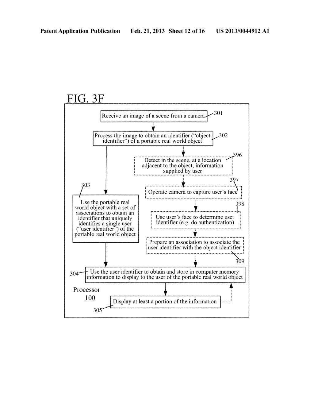 USE OF ASSOCIATION OF AN OBJECT DETECTED IN AN IMAGE TO OBTAIN INFORMATION     TO DISPLAY TO A USER - diagram, schematic, and image 13