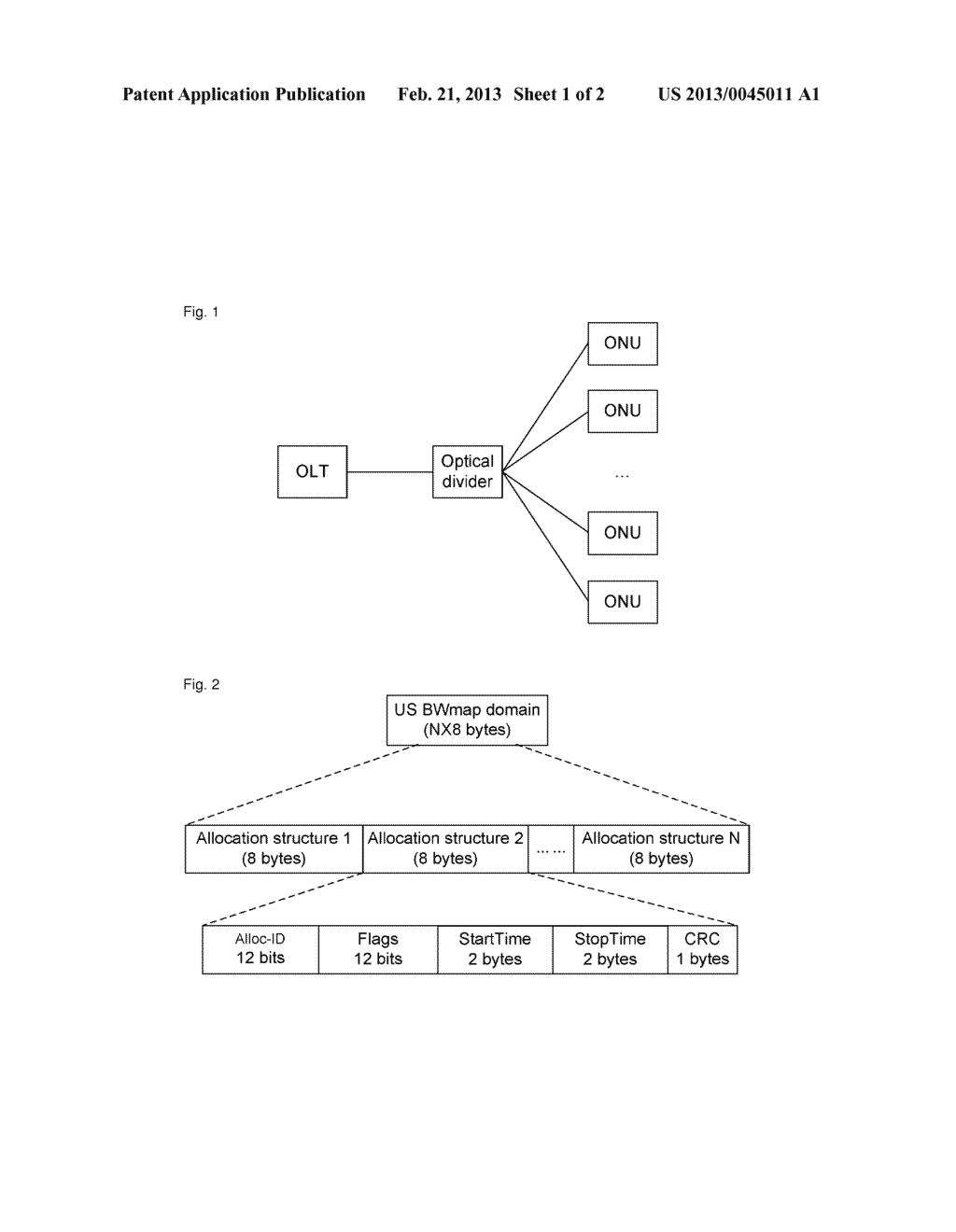 Method and system for upstream bandwidth allocation in a passive optical     network - diagram, schematic, and image 02