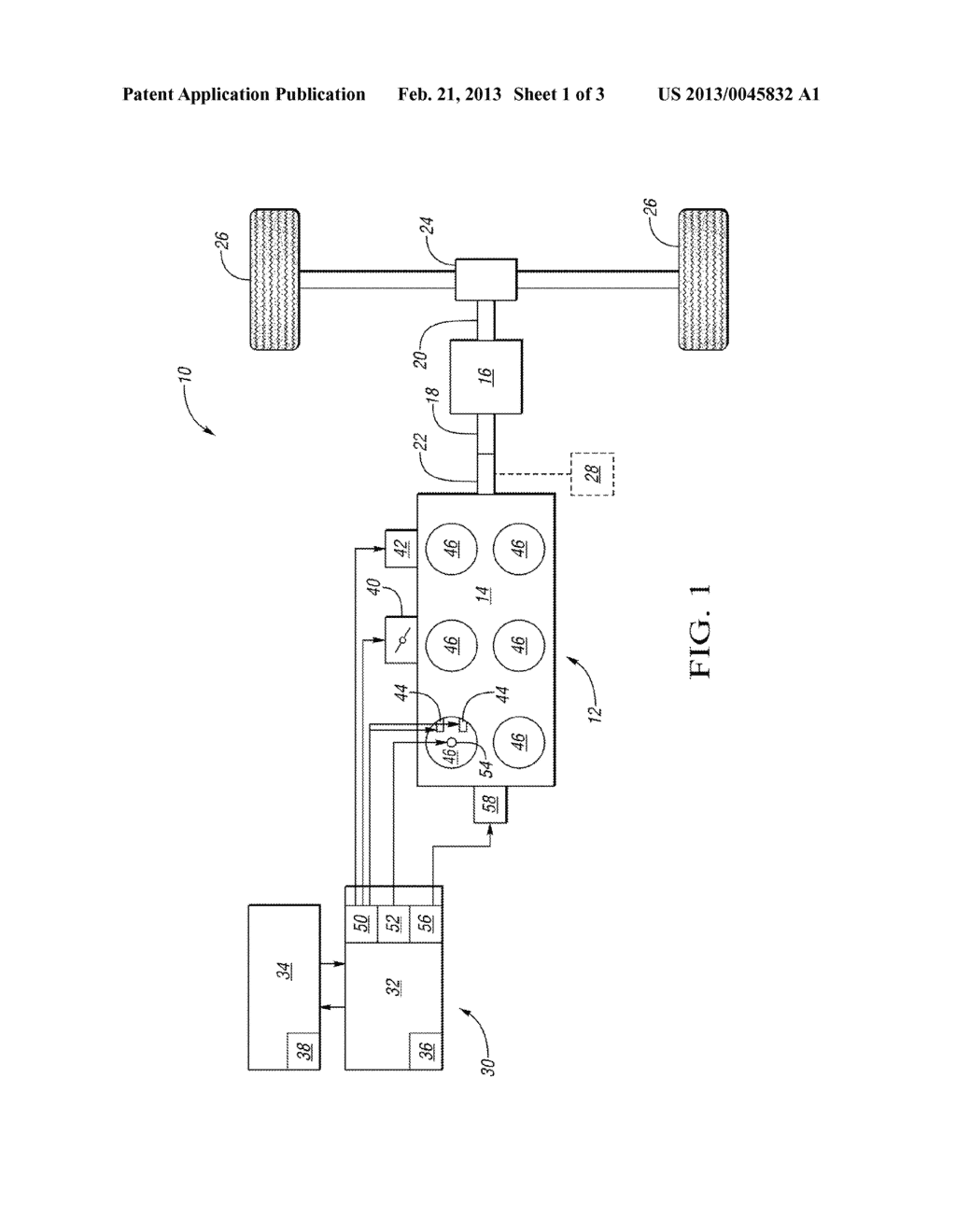 SYSTEM AND METHOD OF CONTROLLING CRANKSHAFT TORQUE DURING A TRANSMISSION     SHIFT WITH TORQUE CAPACITY-BASED TORQUE REDUCTION RANGE SELECTION - diagram, schematic, and image 02