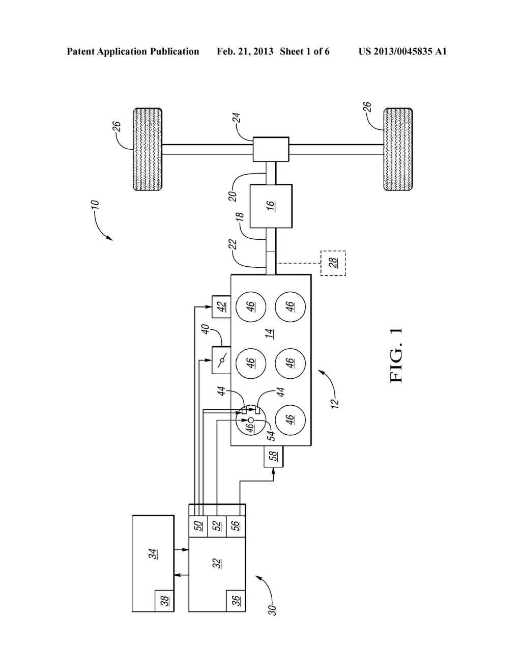 METHOD FOR CRANKSHAFT TORQUE MODIFICATION DURING TRANSMISSION SHIFTS USING     MULTIPLE TORQUE ACTUATORS AND CONTROL SYSTEM FOR SAME - diagram, schematic, and image 02