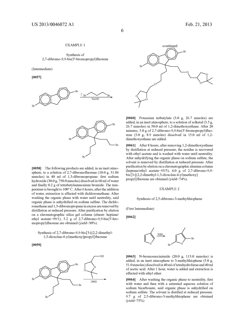 AROMATIC MONOMERS DERIVING FROM GLYCEROL UNITS, PROCESS FOR THEIR     PREPARATION AND USE THEREOF FOR THE PREPARATION OF WATER-SOLUBLE     CONJUGATED POLYMERS - diagram, schematic, and image 07