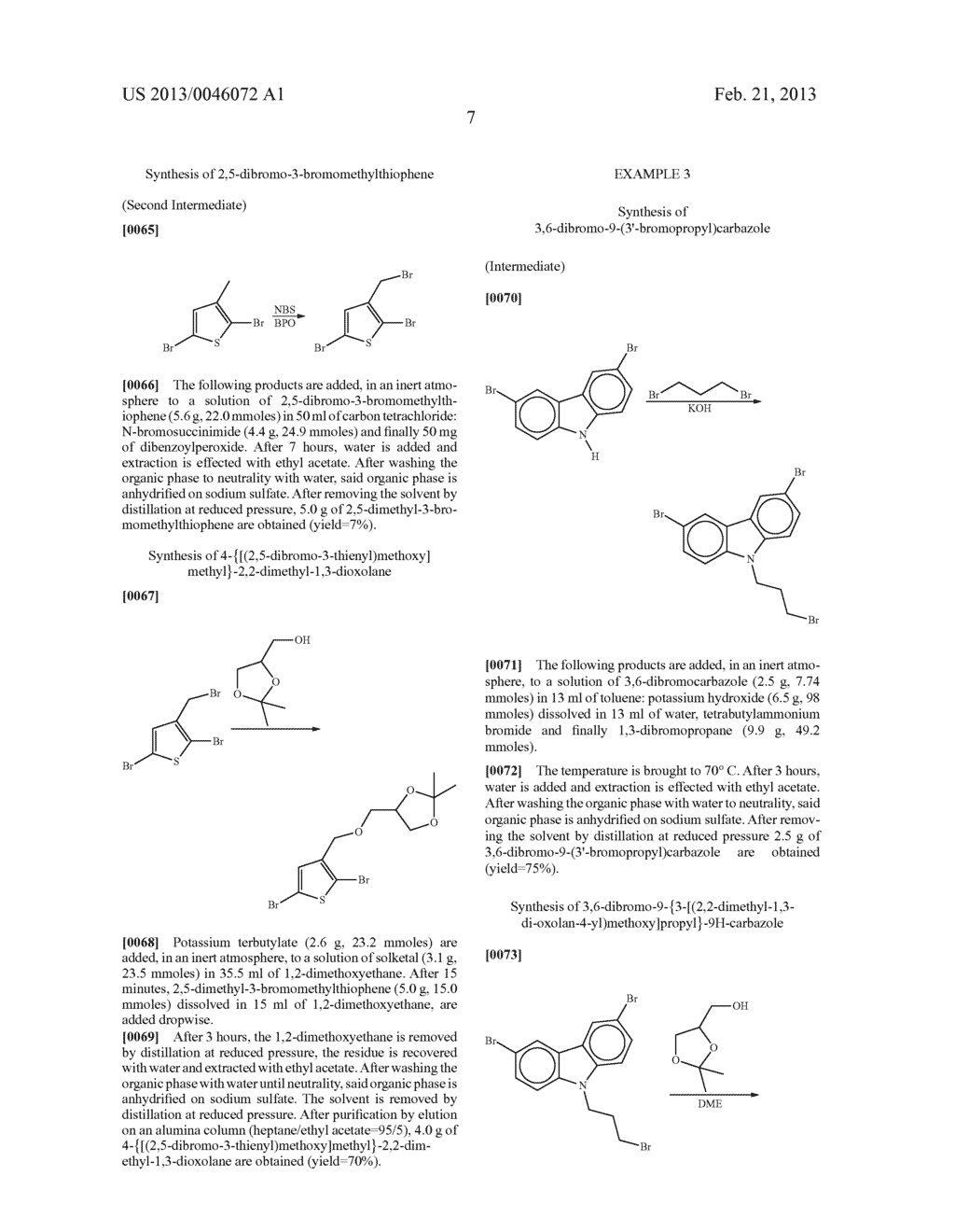 AROMATIC MONOMERS DERIVING FROM GLYCEROL UNITS, PROCESS FOR THEIR     PREPARATION AND USE THEREOF FOR THE PREPARATION OF WATER-SOLUBLE     CONJUGATED POLYMERS - diagram, schematic, and image 08