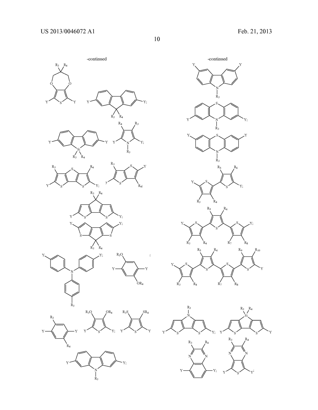 AROMATIC MONOMERS DERIVING FROM GLYCEROL UNITS, PROCESS FOR THEIR     PREPARATION AND USE THEREOF FOR THE PREPARATION OF WATER-SOLUBLE     CONJUGATED POLYMERS - diagram, schematic, and image 11