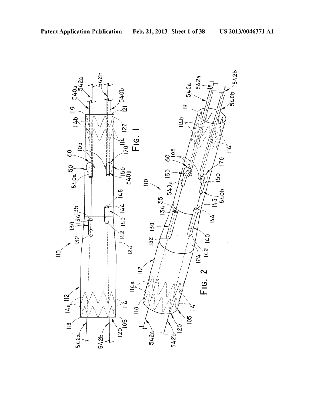 ENDOLUMINAL PROSTHESIS HAVING MULTIPLE BRANCHES OR FENESTRATIONS AND     METHODS OF DEPLOYMENT - diagram, schematic, and image 02