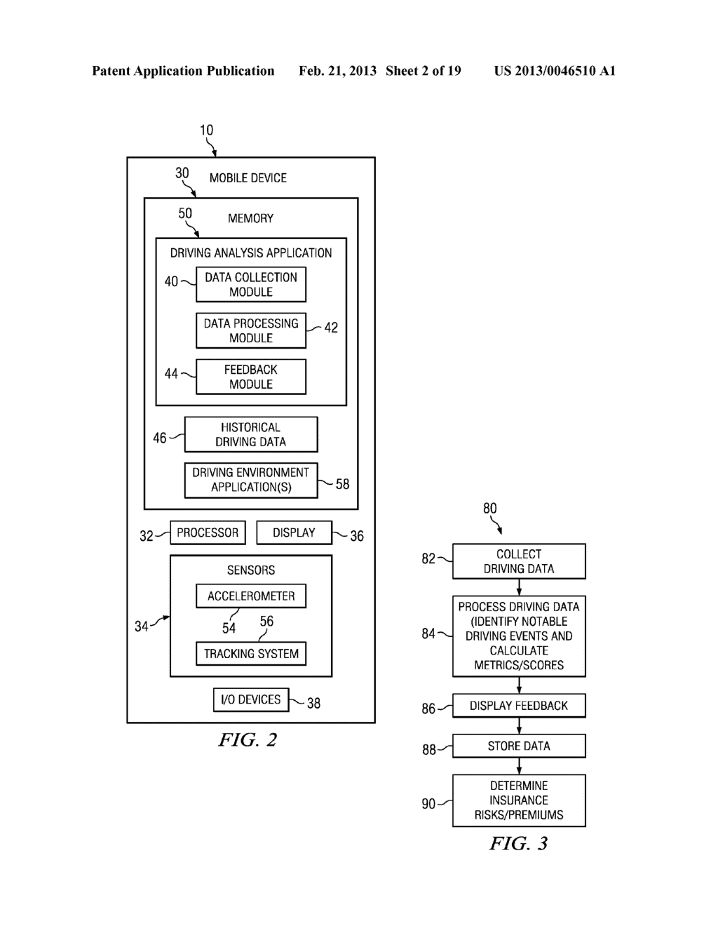 Systems and Methods for Controlling the Collection of Vehicle Use Data     Using a Mobile Device - diagram, schematic, and image 03