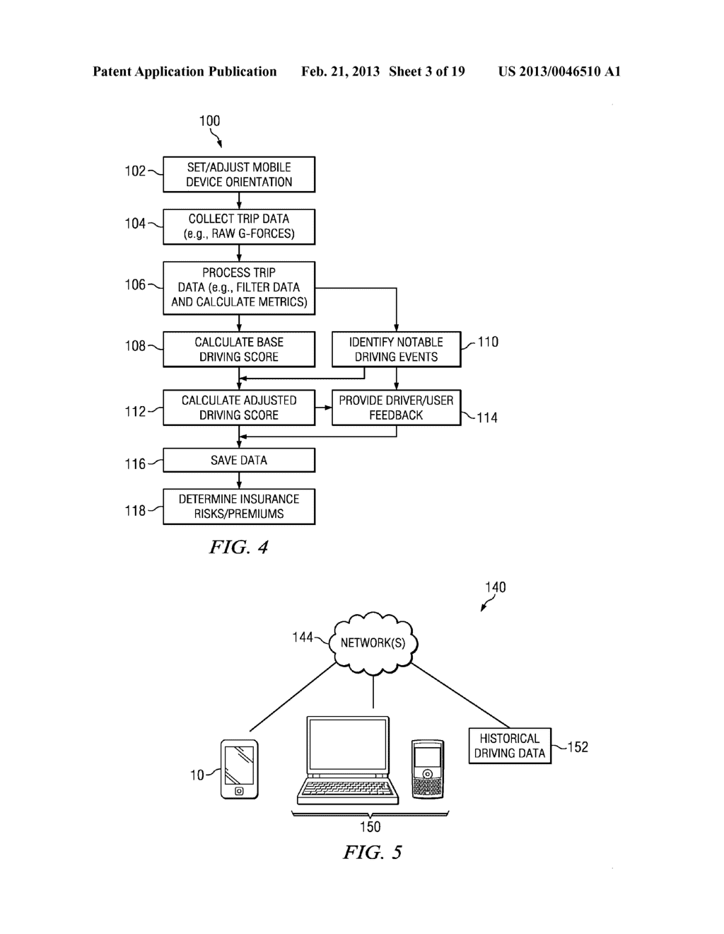 Systems and Methods for Controlling the Collection of Vehicle Use Data     Using a Mobile Device - diagram, schematic, and image 04