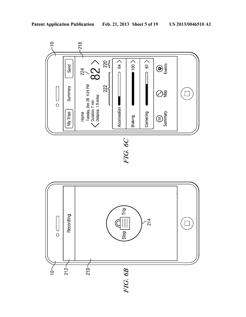 Systems and Methods for Controlling the Collection of Vehicle Use Data     Using a Mobile Device - diagram, schematic, and image 06