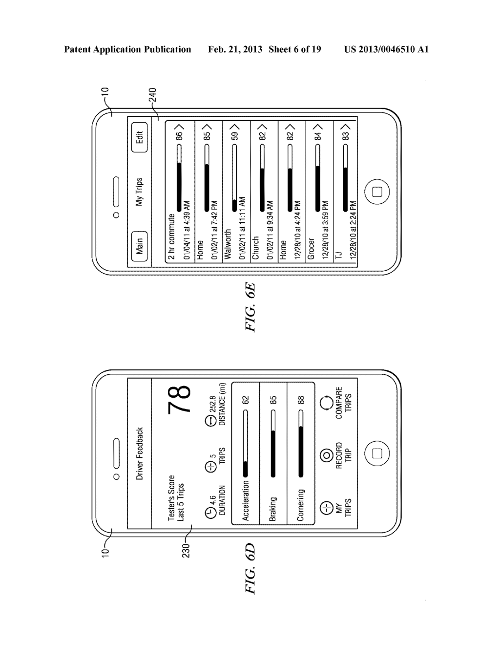 Systems and Methods for Controlling the Collection of Vehicle Use Data     Using a Mobile Device - diagram, schematic, and image 07