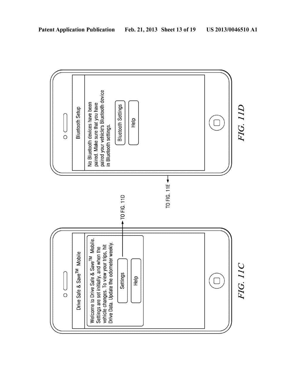 Systems and Methods for Controlling the Collection of Vehicle Use Data     Using a Mobile Device - diagram, schematic, and image 14