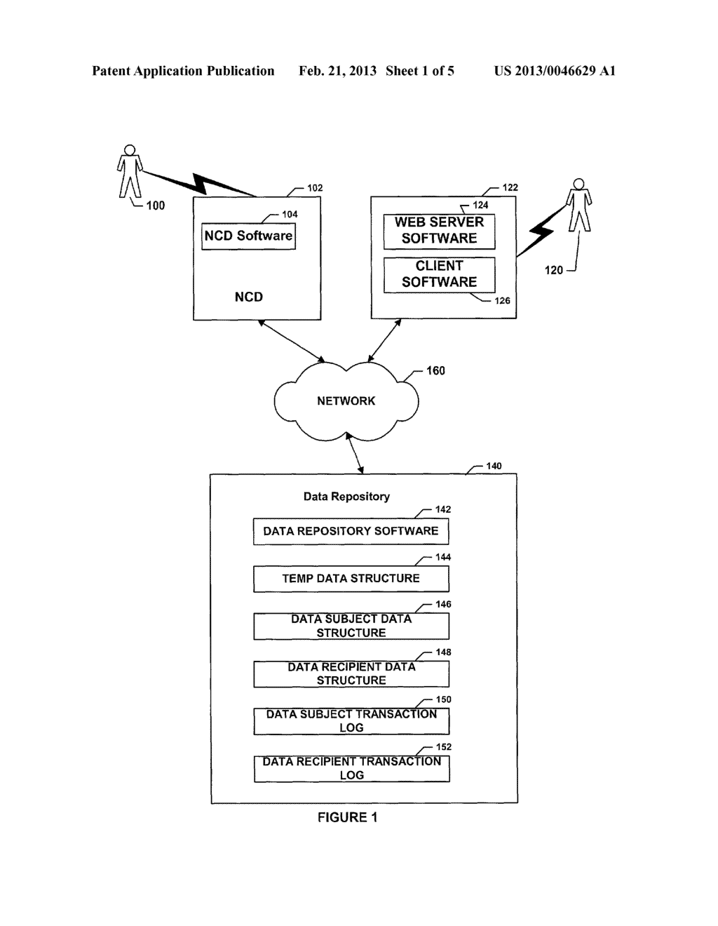 SYSTEM AND METHOD FOR STORAGE AND RETRIEVAL OF INFORMATION SUBJECT TO     AUTHORIZATION BY A DATA CONTROLLER - diagram, schematic, and image 02