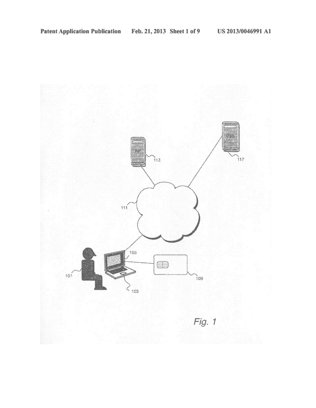 SYSTEM AND METHOD FOR USING A PORTABLE SECURITY DEVICE TO CRYPTOGRAHICALLY     SIGN A DOCUMENT IN RESPONSE TO SIGNATURE REQUESTS FROM A RELYING PARY TO     A DIGITAL SIGNATURE - diagram, schematic, and image 02