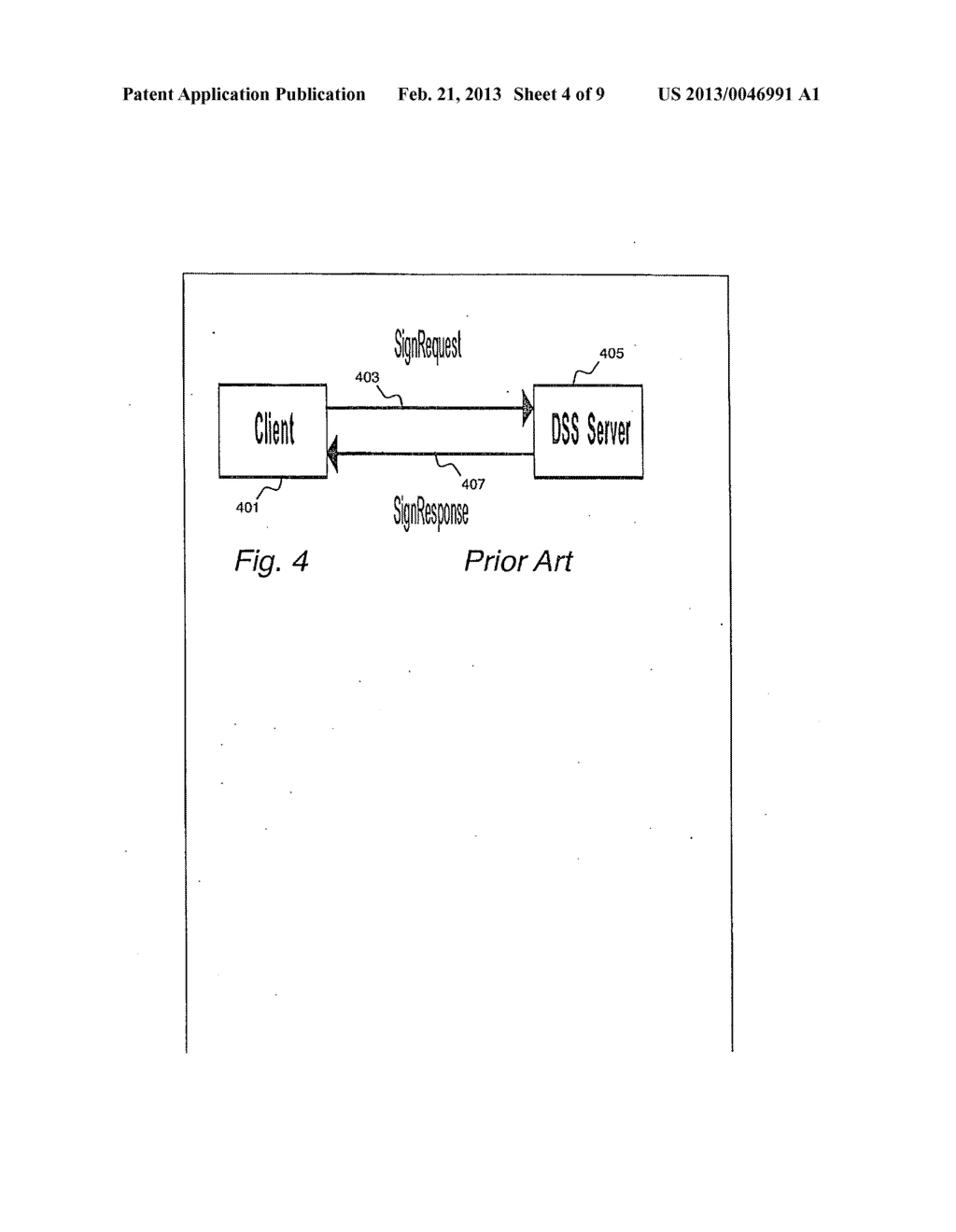SYSTEM AND METHOD FOR USING A PORTABLE SECURITY DEVICE TO CRYPTOGRAHICALLY     SIGN A DOCUMENT IN RESPONSE TO SIGNATURE REQUESTS FROM A RELYING PARY TO     A DIGITAL SIGNATURE - diagram, schematic, and image 05