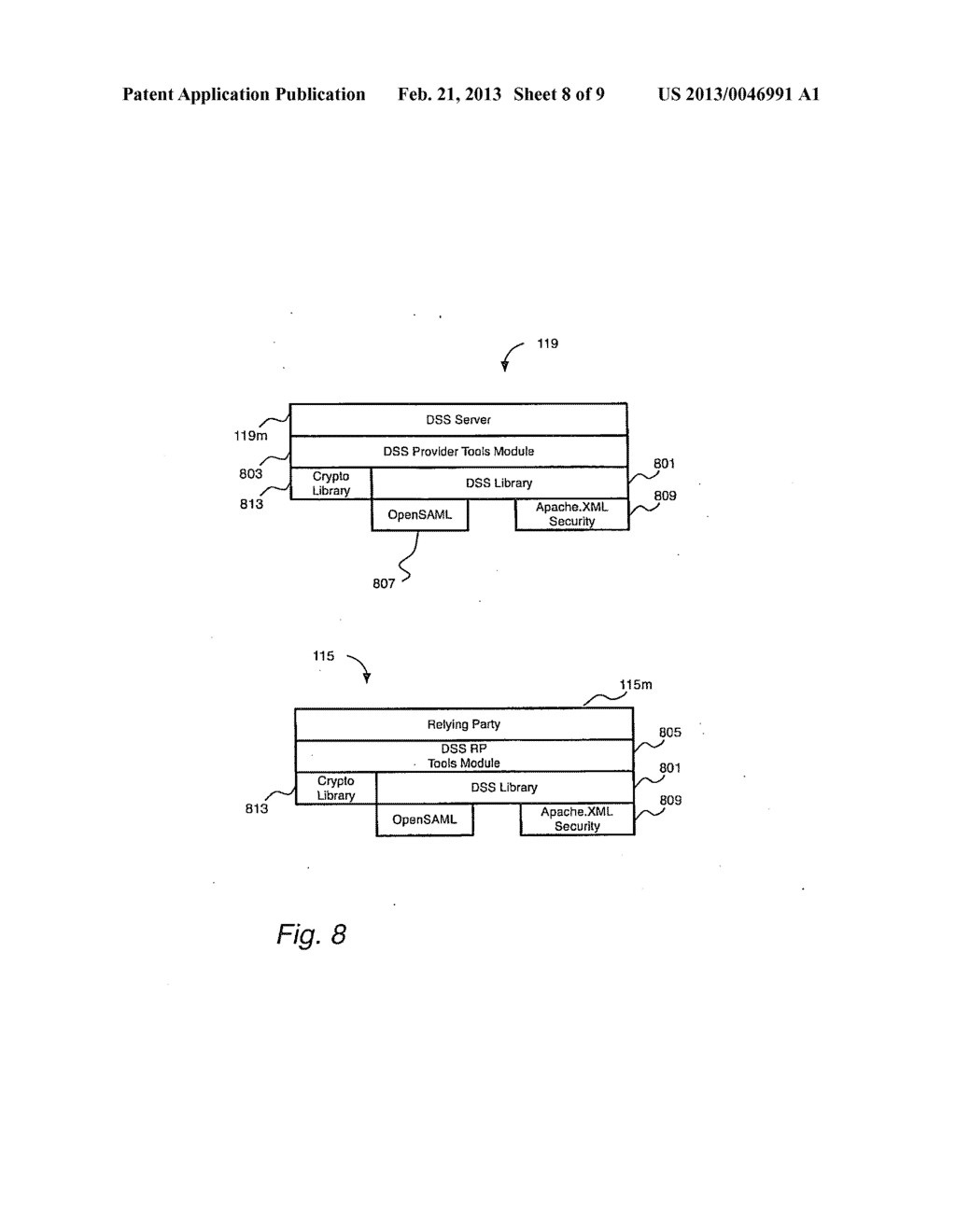 SYSTEM AND METHOD FOR USING A PORTABLE SECURITY DEVICE TO CRYPTOGRAHICALLY     SIGN A DOCUMENT IN RESPONSE TO SIGNATURE REQUESTS FROM A RELYING PARY TO     A DIGITAL SIGNATURE - diagram, schematic, and image 09