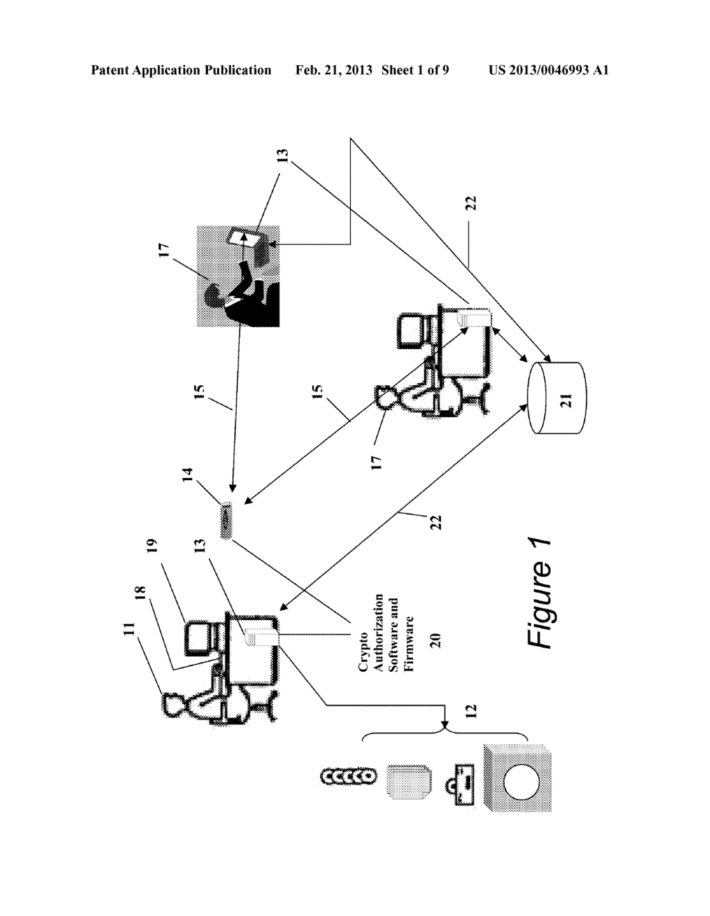 Portable Data Encryption Device with Configurable Security Functionality     and Method for File Encryption - diagram, schematic, and image 02