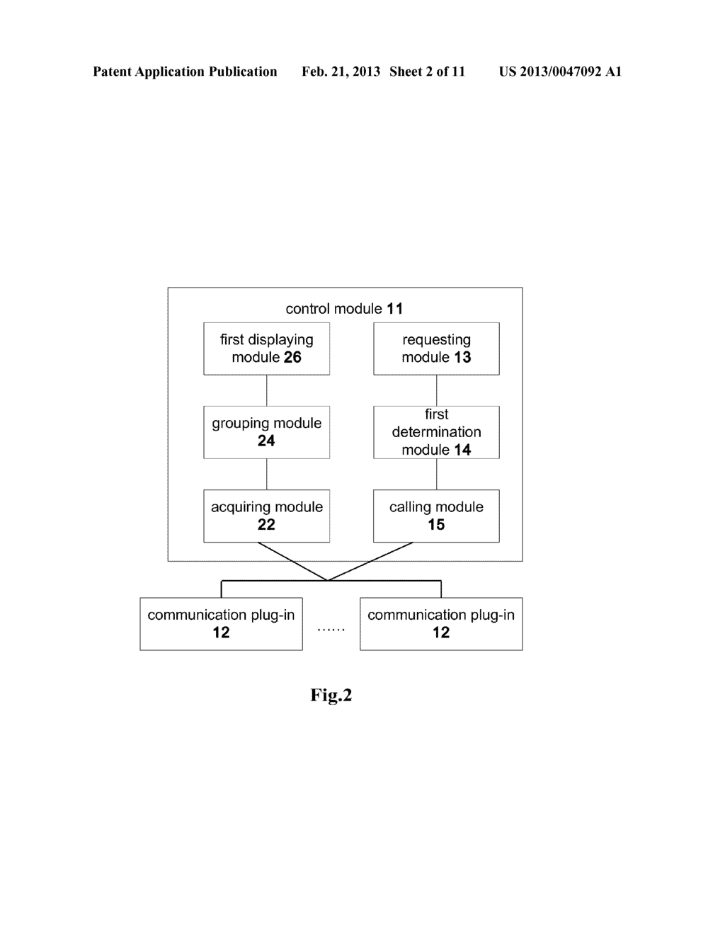 COMMUNICATION CLIENT AND A METHOD FOR INITIATING A COMMUNICATION SERVICE - diagram, schematic, and image 03