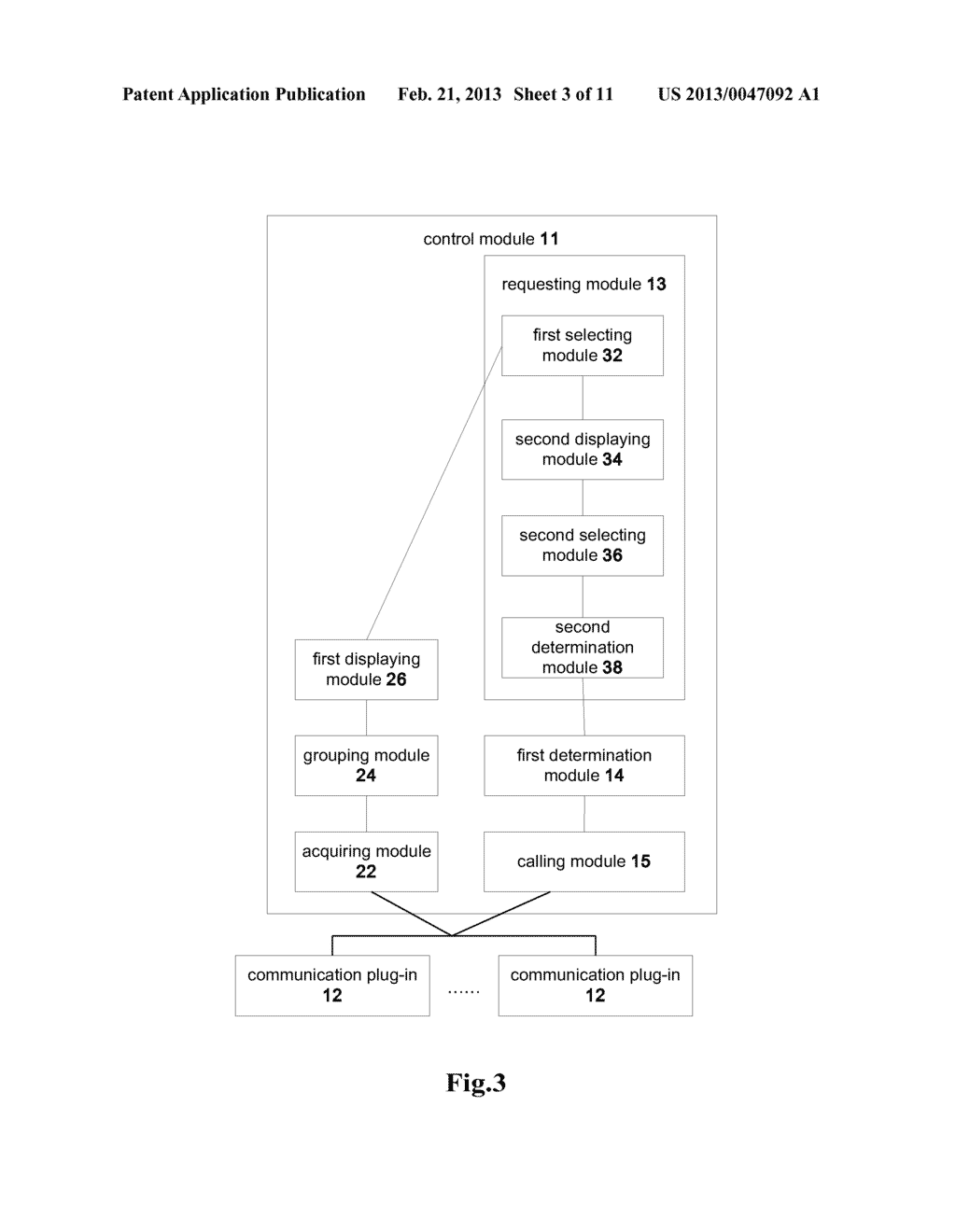 COMMUNICATION CLIENT AND A METHOD FOR INITIATING A COMMUNICATION SERVICE - diagram, schematic, and image 04