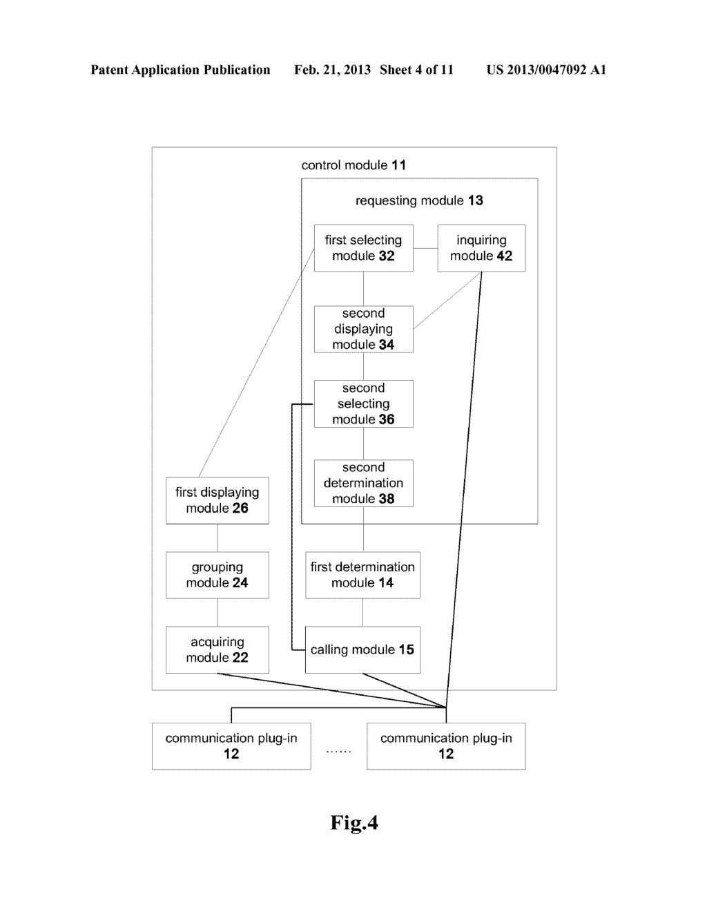 COMMUNICATION CLIENT AND A METHOD FOR INITIATING A COMMUNICATION SERVICE - diagram, schematic, and image 05