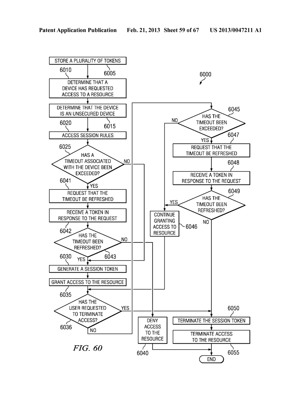 METHOD AND APPARATUS FOR NETWORK SESSION VALIDATION - diagram, schematic, and image 60