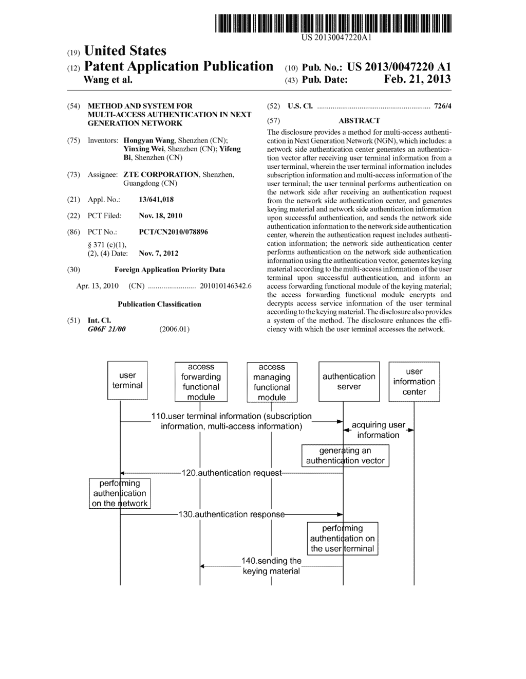 Method and system for multi-access authentication in next generation     network - diagram, schematic, and image 01