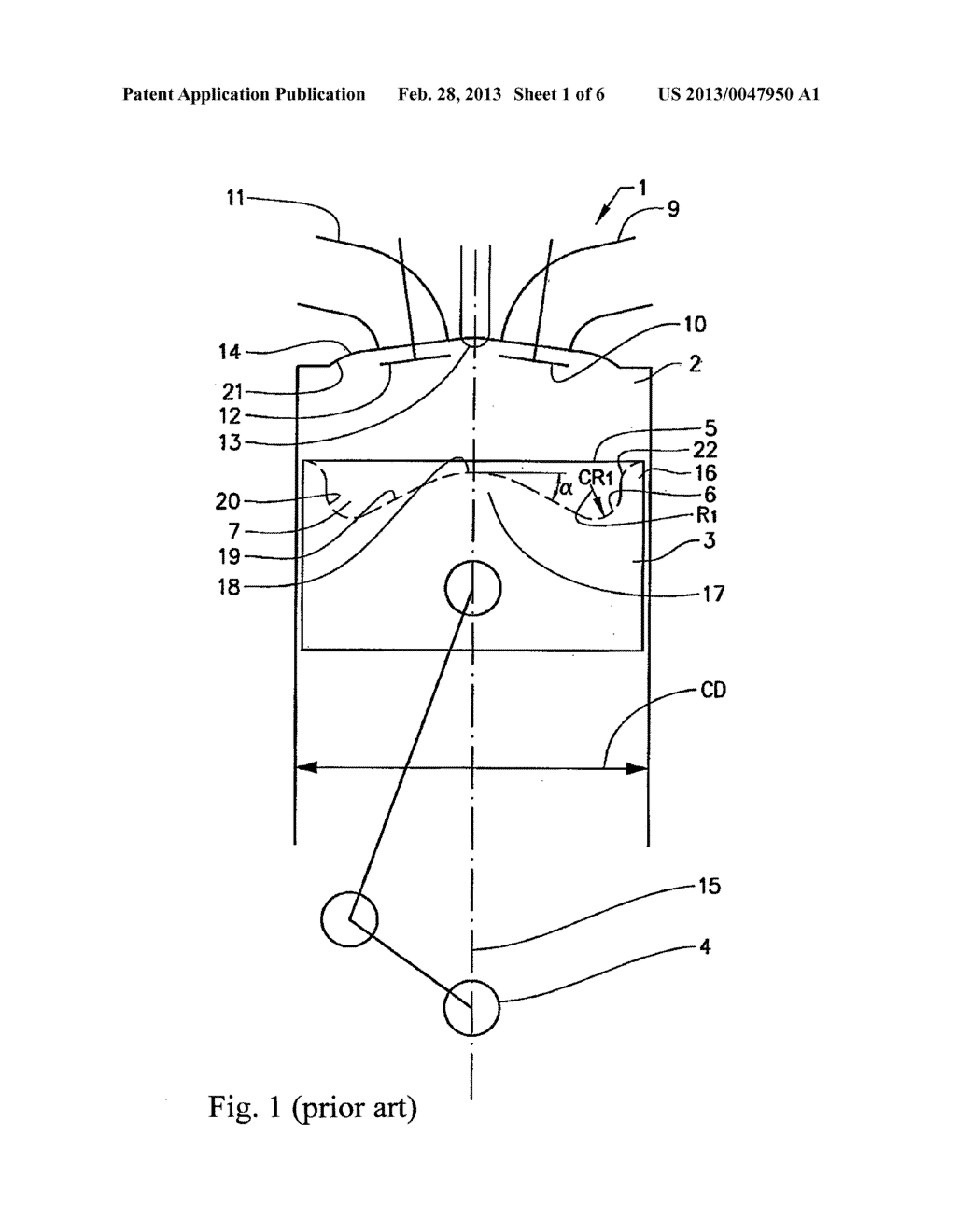 PISTON POSITIONED FOR RECIPROCAL MOVEMENT IN A COMBUSTION ENGINE CYLINDER -  diagram, schematic, and image 02