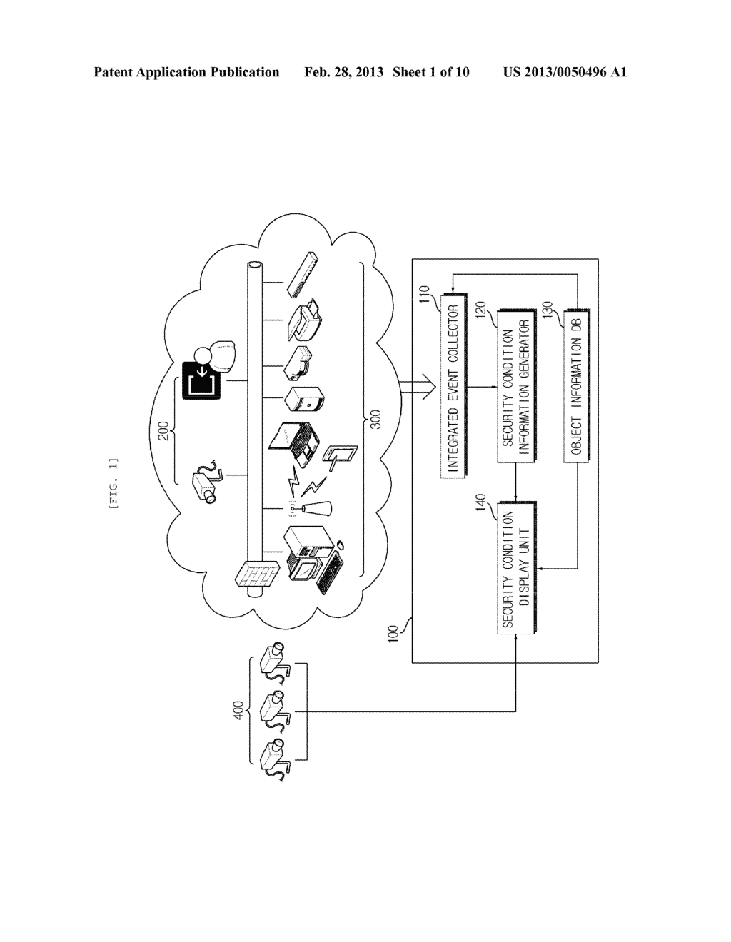 SECURITY MONITORING METHOD AND APPARATUS USING AUGMENTED REALITY - diagram, schematic, and image 02