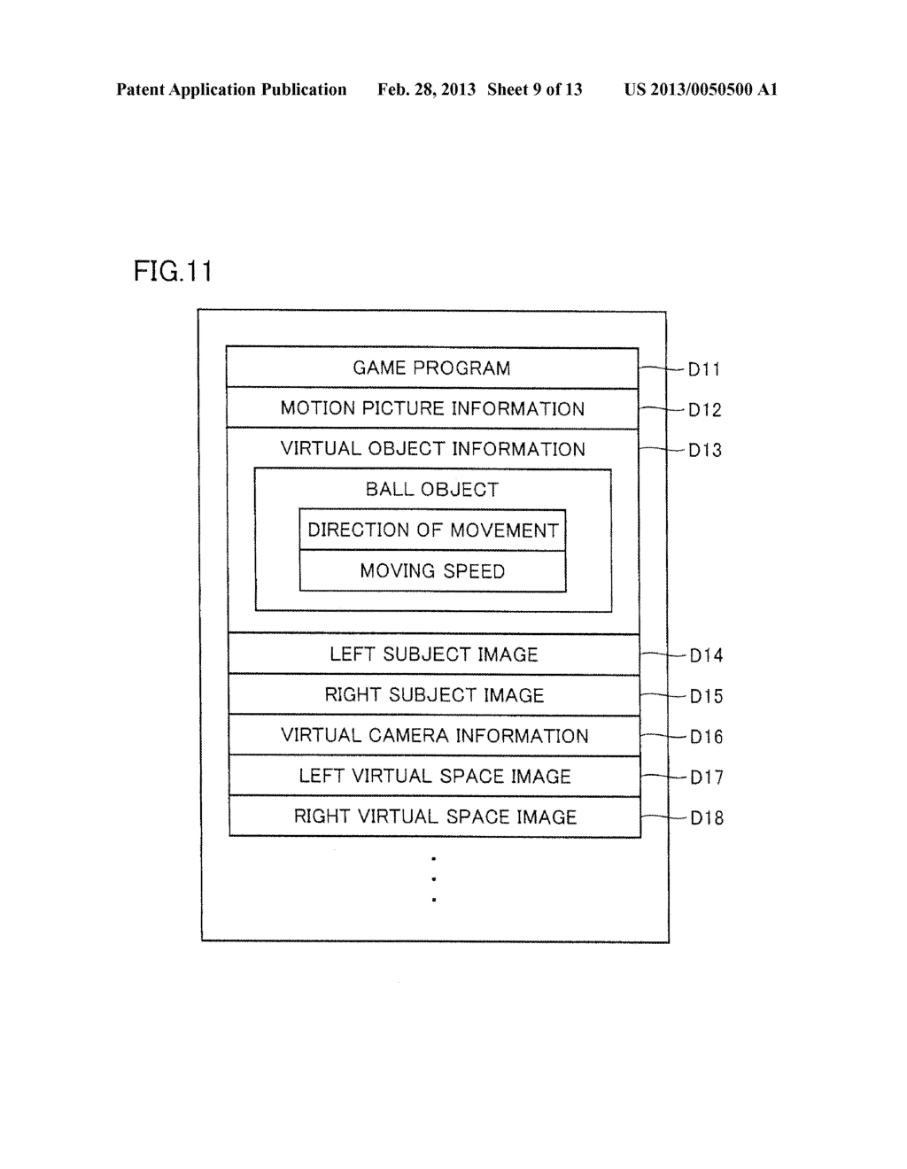 INFORMATION PROCESSING PROGRAM, INFORMATION PROCESSING SYSTEM, INFORMATION     PROCESSING APPARATUS, AND INFORMATION PROCESSING METHOD, UTILIZING     AUGMENTED REALITY TECHNIQUE - diagram, schematic, and image 10