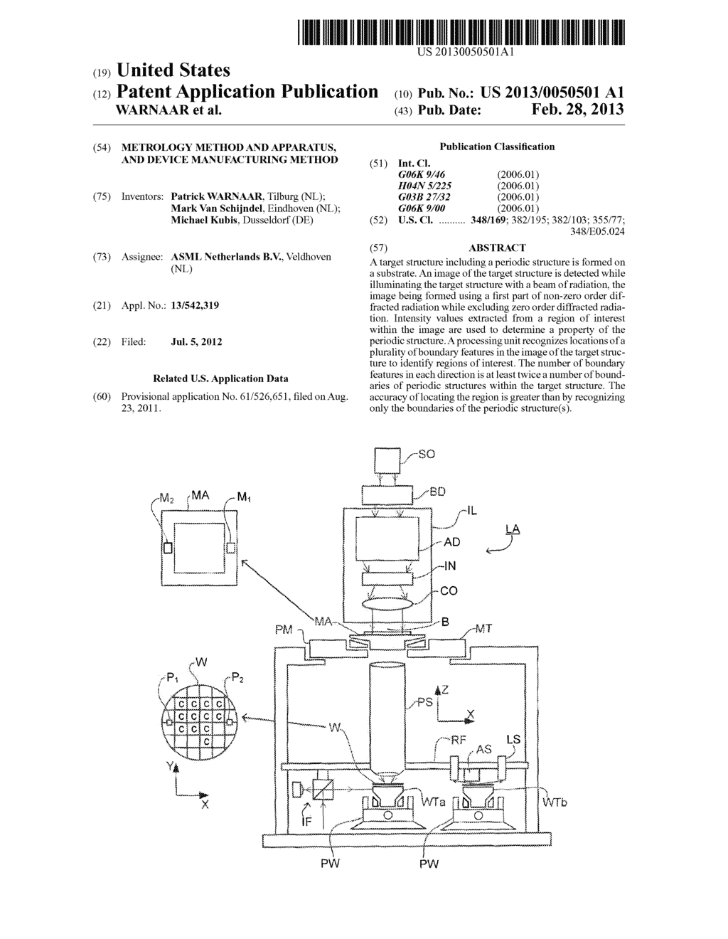 Metrology Method and Apparatus, and Device Manufacturing Method - diagram, schematic, and image 01