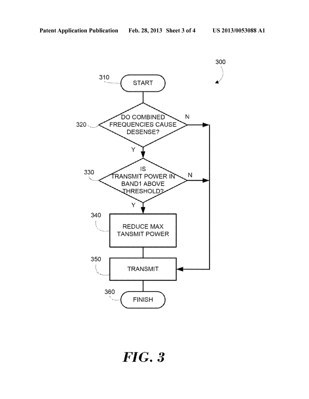 METHOD AND APPARATUS FOR POWER CUTBACK IN A SIMULTANEOUS DUAL FREQUENCY     BAND CALL - diagram, schematic, and image 04