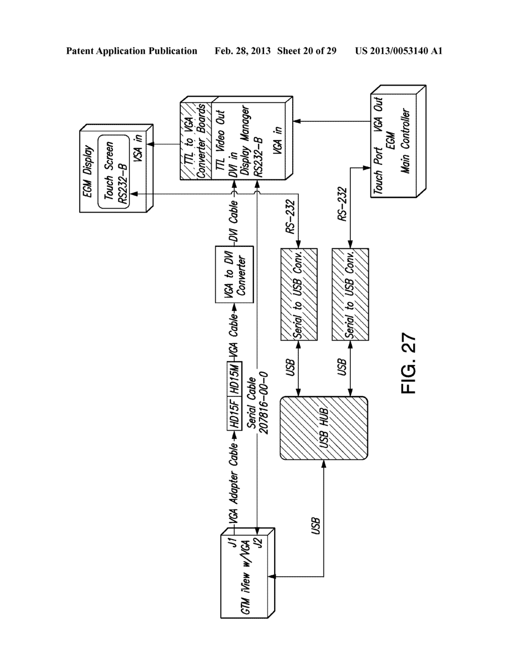 METHOD, APPARATUS AND SYSTEM FOR VIDEO TUNING OF A VIDEO SWITCHING DEVICE     FOR A GAMING MACHINE - diagram, schematic, and image 21