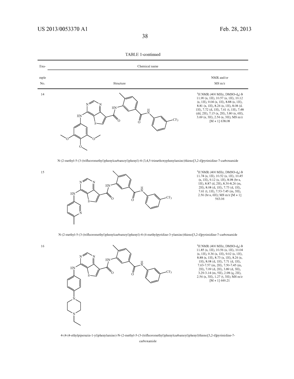 THIENO[3,2-d]PYRIMIDINE DERIVATIVES HAVING INHIBITORY ACTIVITY ON PROTEIN     KINASES - diagram, schematic, and image 39