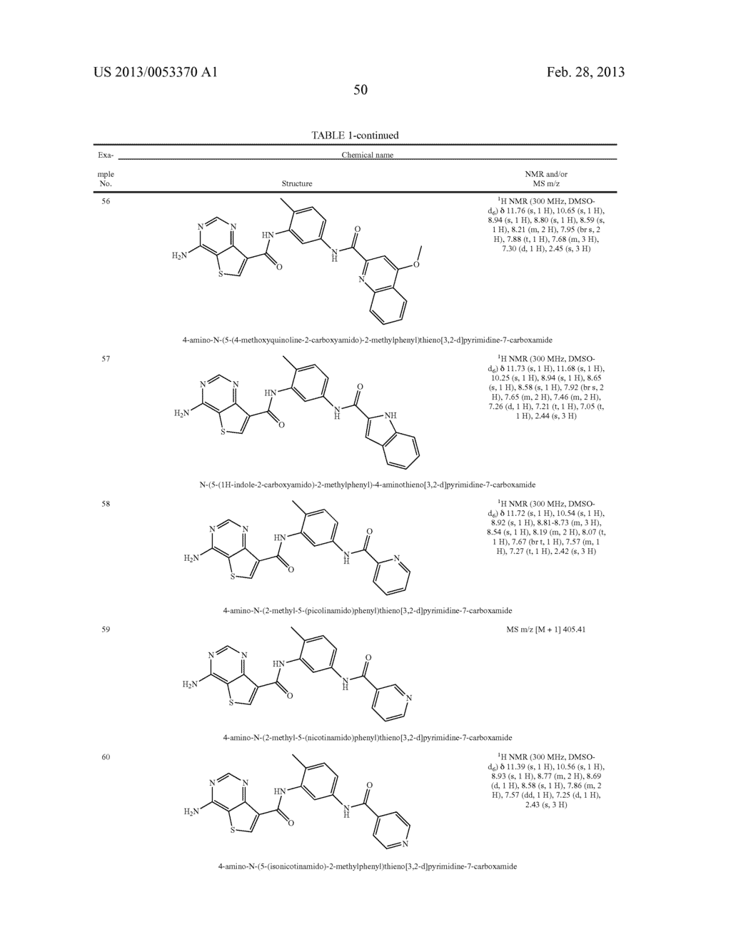THIENO[3,2-d]PYRIMIDINE DERIVATIVES HAVING INHIBITORY ACTIVITY ON PROTEIN     KINASES - diagram, schematic, and image 51