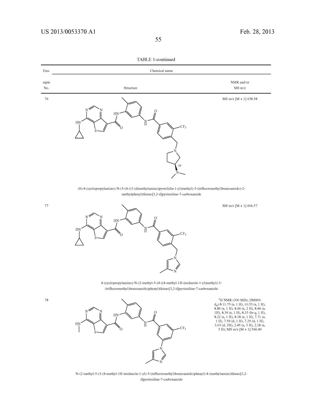THIENO[3,2-d]PYRIMIDINE DERIVATIVES HAVING INHIBITORY ACTIVITY ON PROTEIN     KINASES - diagram, schematic, and image 56