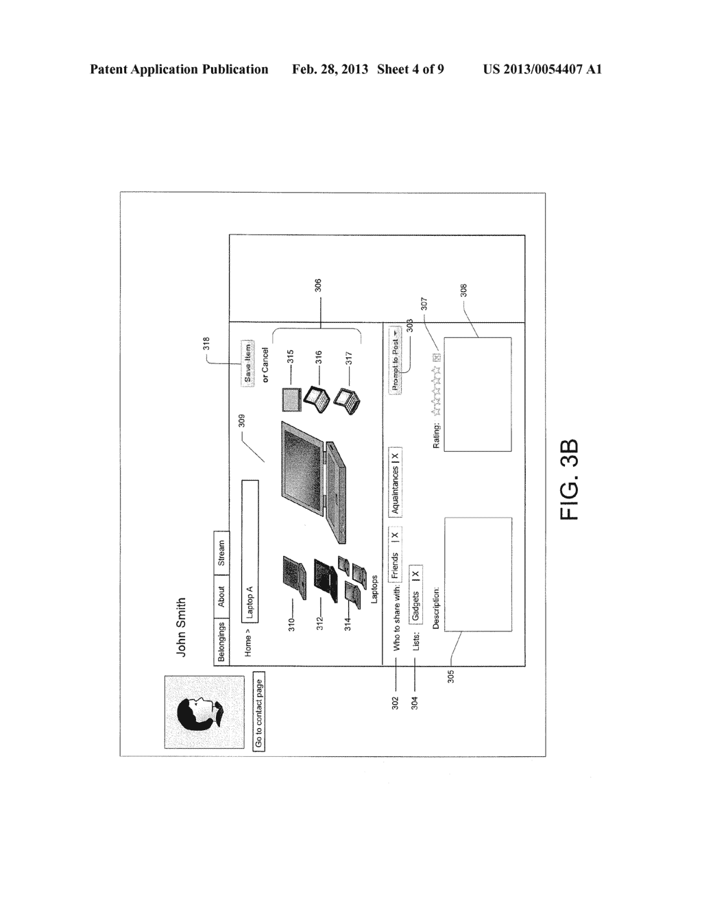 System and Method for Recommending Items to Users Based on Social Graph     Information - diagram, schematic, and image 05