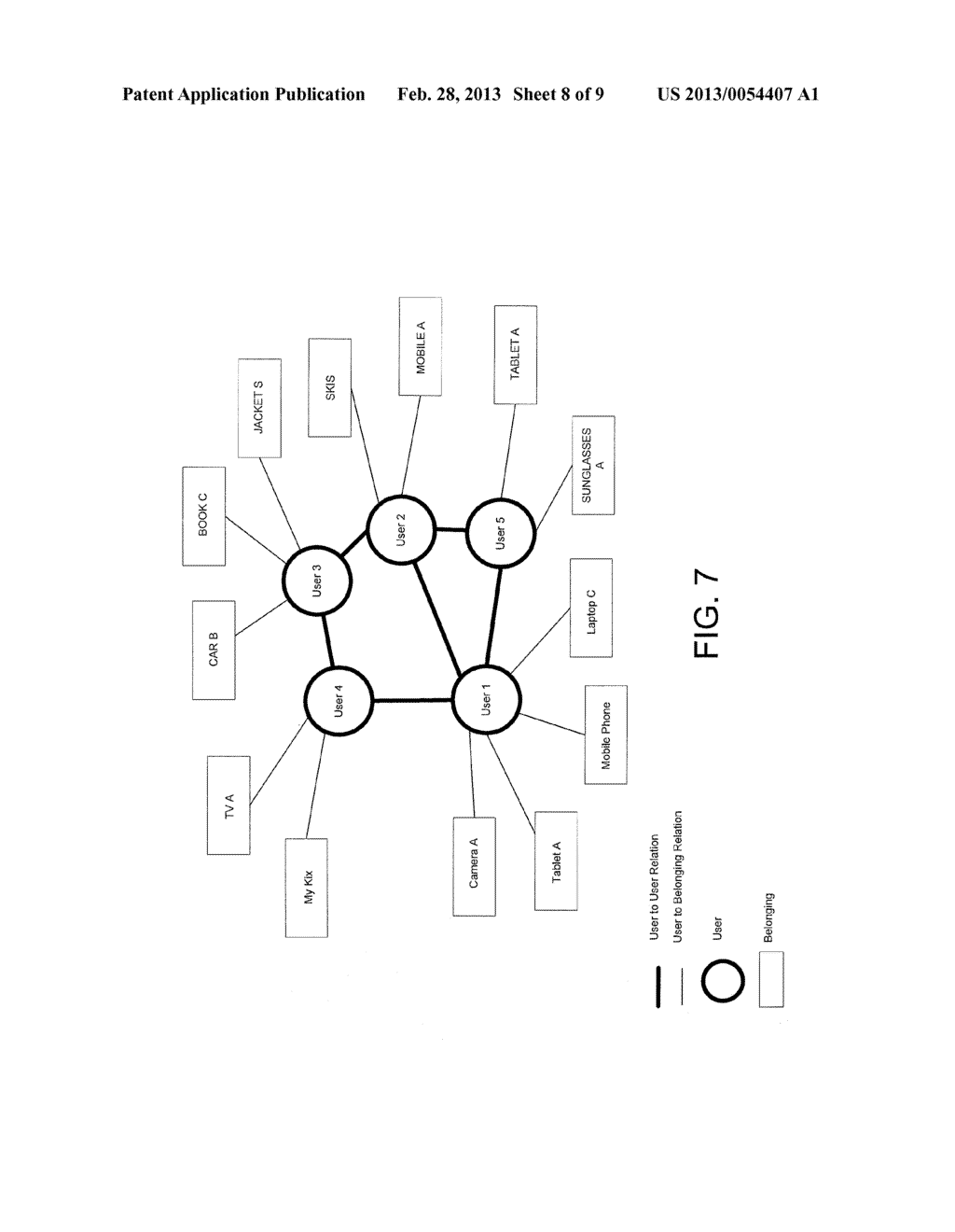 System and Method for Recommending Items to Users Based on Social Graph     Information - diagram, schematic, and image 09